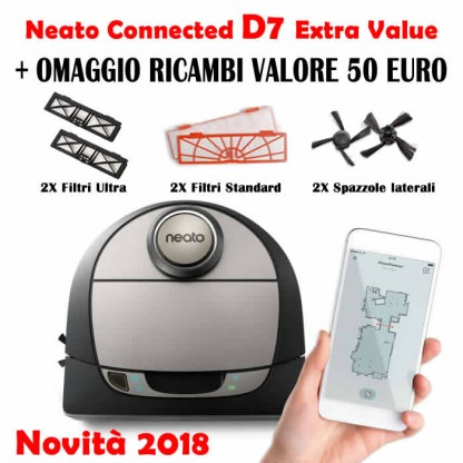Neato D7 Connected Botvac Robot Aspirapolvere Extra Value