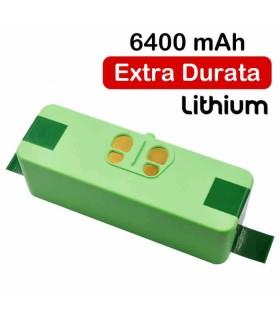 Batteria agli Ioni di Litio 6400Mah Roomba Extra power