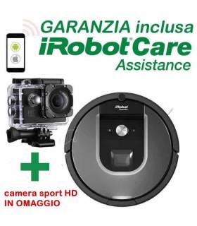 iRobot Roomba 960 + sport camera 1080 Sub. Garanzia Nital iRobot Care Assistance