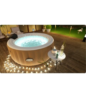 Intex Pure 28426 Spa Bubble Therapy, 196x71 cm 4 Posti,Riscaldatore, 795 litri
